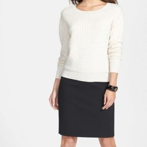 NWT Black Halogen Seamed Pencil Skirt Size 2